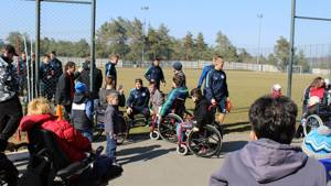 FC Dnipro players celebrate CAFE Week of Action with disabled fans