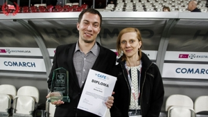 CAFE Award presented to Dariusz Guzik, KS Cracovia
