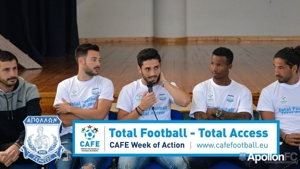 Apollon Limassol leads CAFE Week of Action celebrations in Cyprus