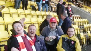 Accies fans on the road